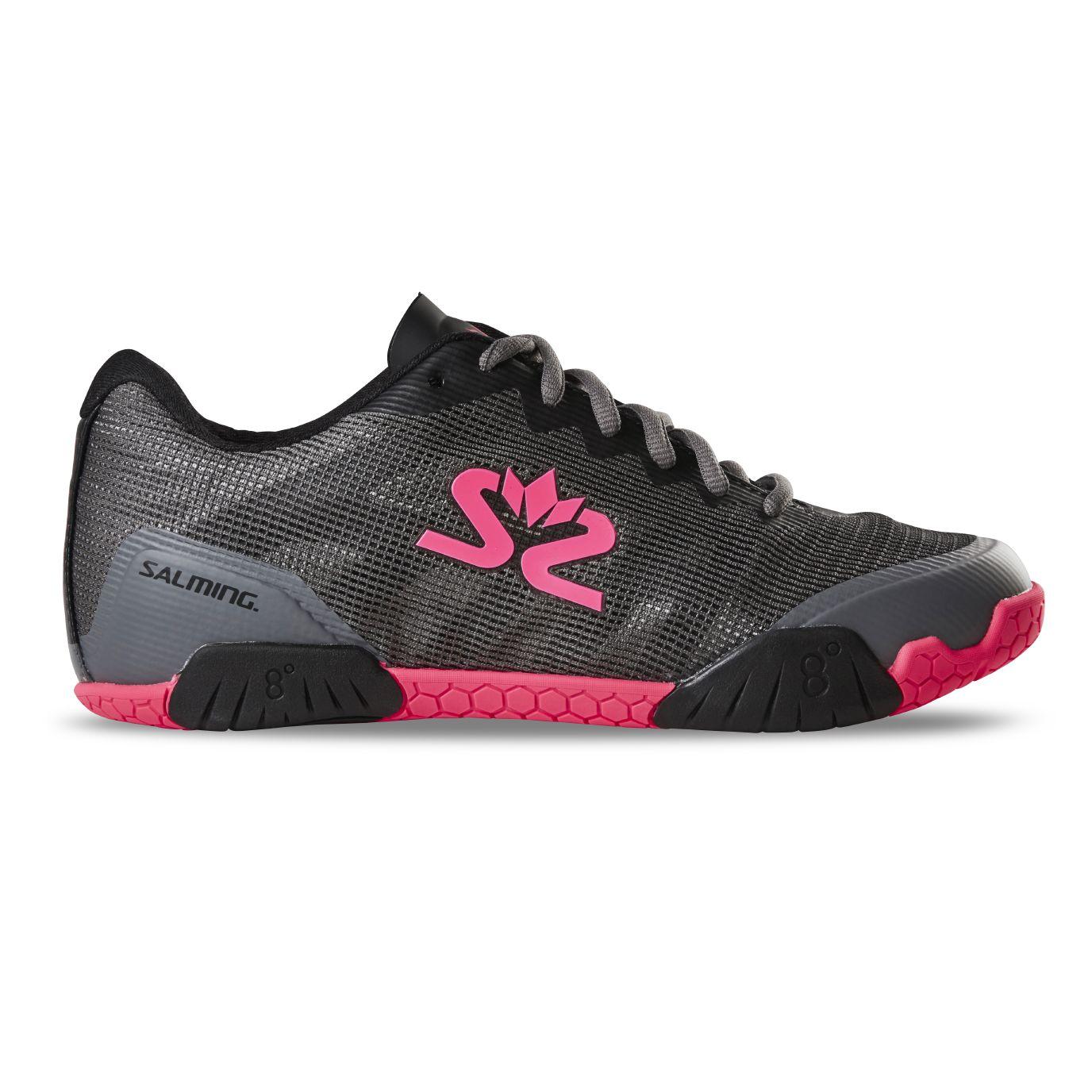 Salming Hawk Shoe Women GunMetal/Pink 8 UK - 42 EUR - 27 cm