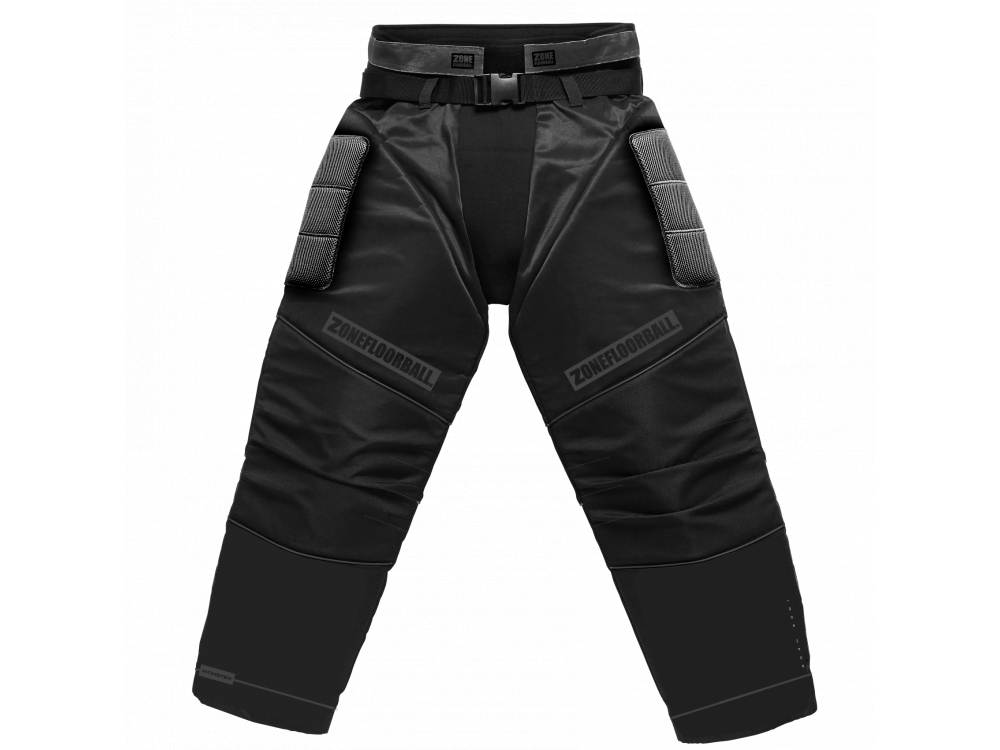 ZONE GOALIE PANTS MONSTER ALL BLACK   L