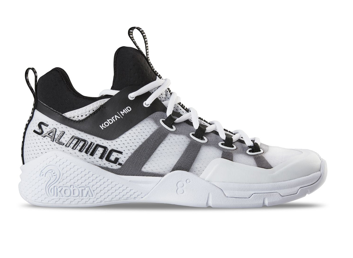 Salming Kobra Mid 2 Shoe Men White/Black 12,5 UK - 48 2/3 EUR - 31,5 cm