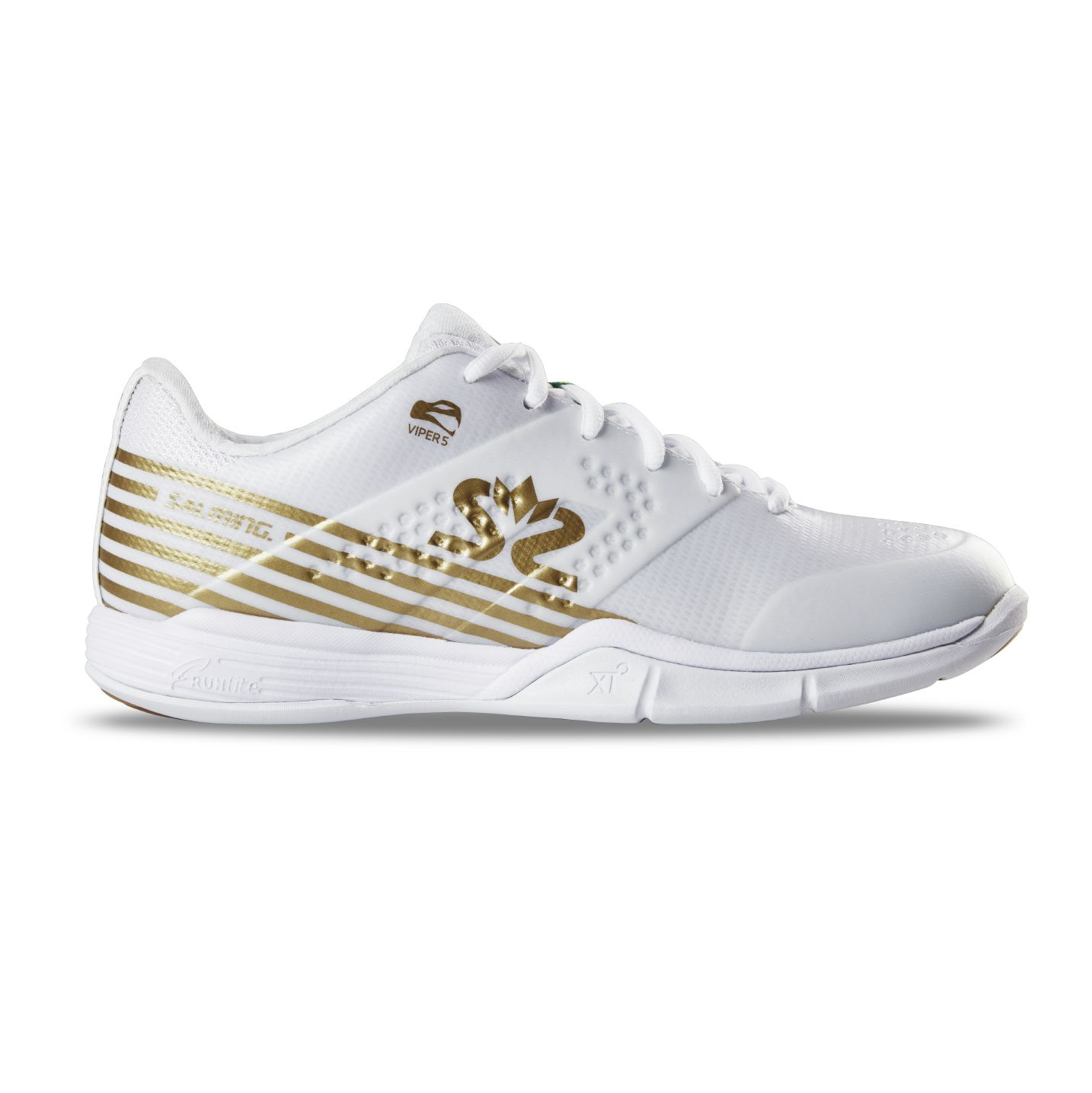 Salming Viper 5 Shoe Women White/Gold 8 UK - 42 EUR - 27 cm