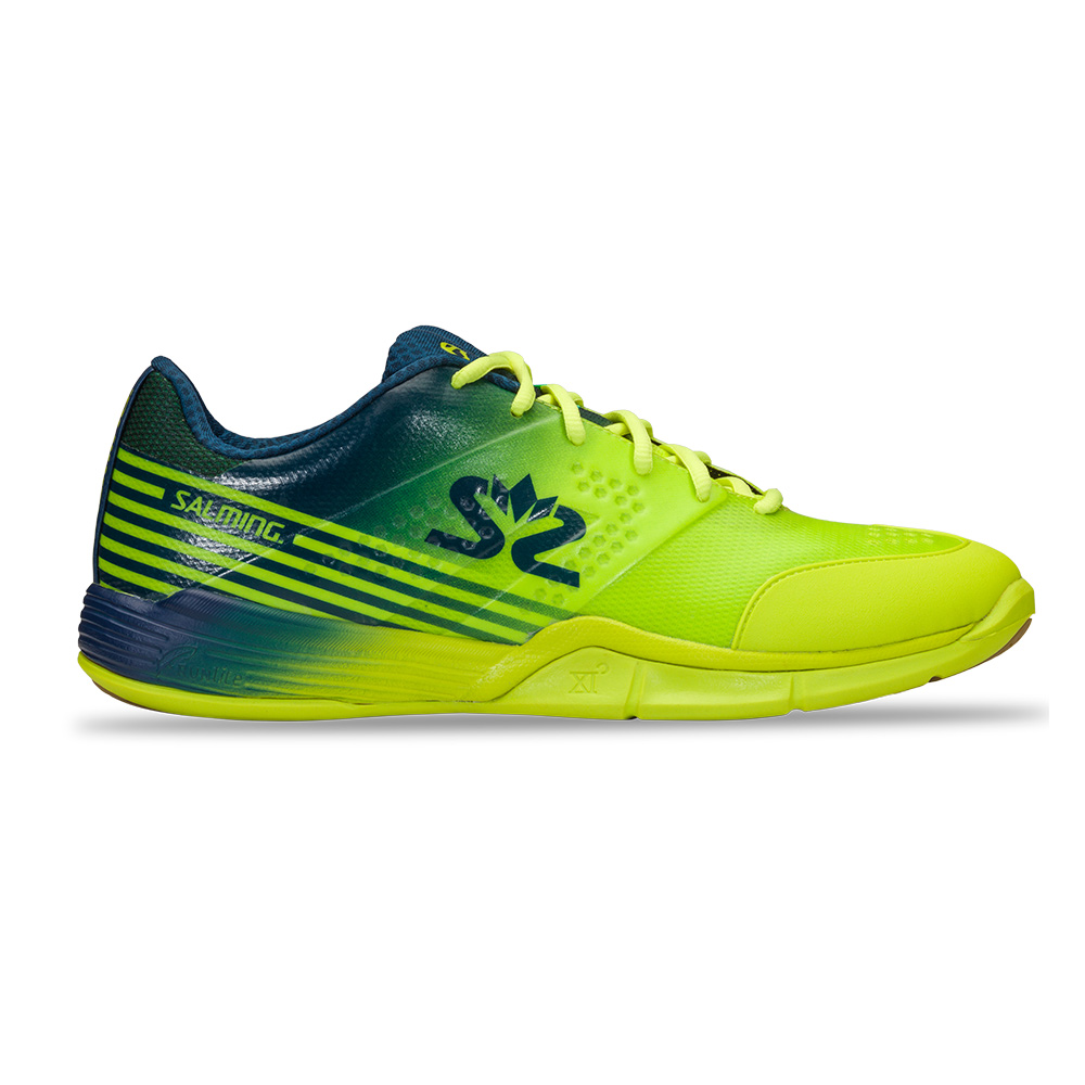 Salming Viper 5 Shoe Men Fluo Green/Navy 7 UK - 41 1/3 EUR - 26 cm