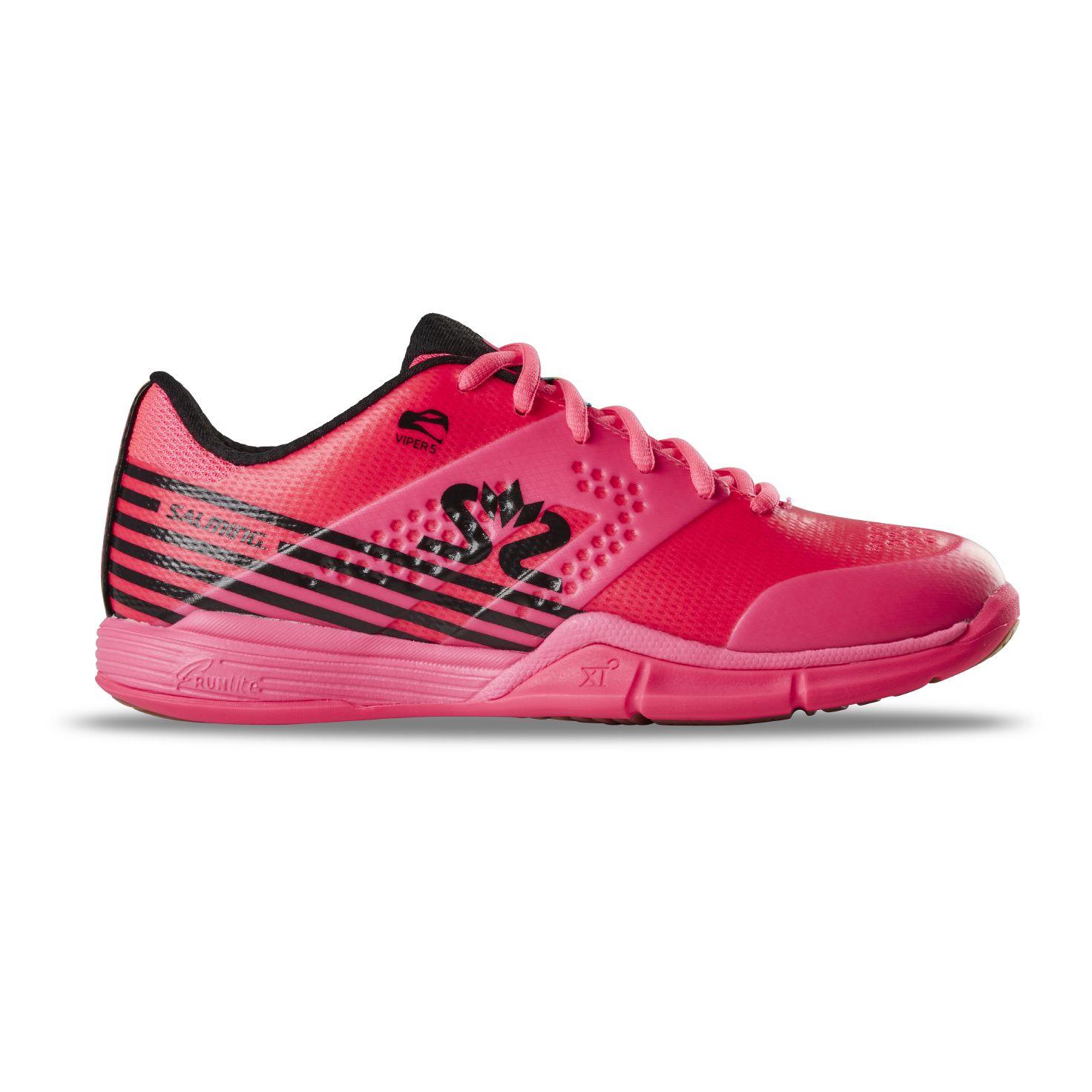 Salming Viper 5 Shoe Women Pink/Black 7 UK - 40 2/3 EUR - 26 cm