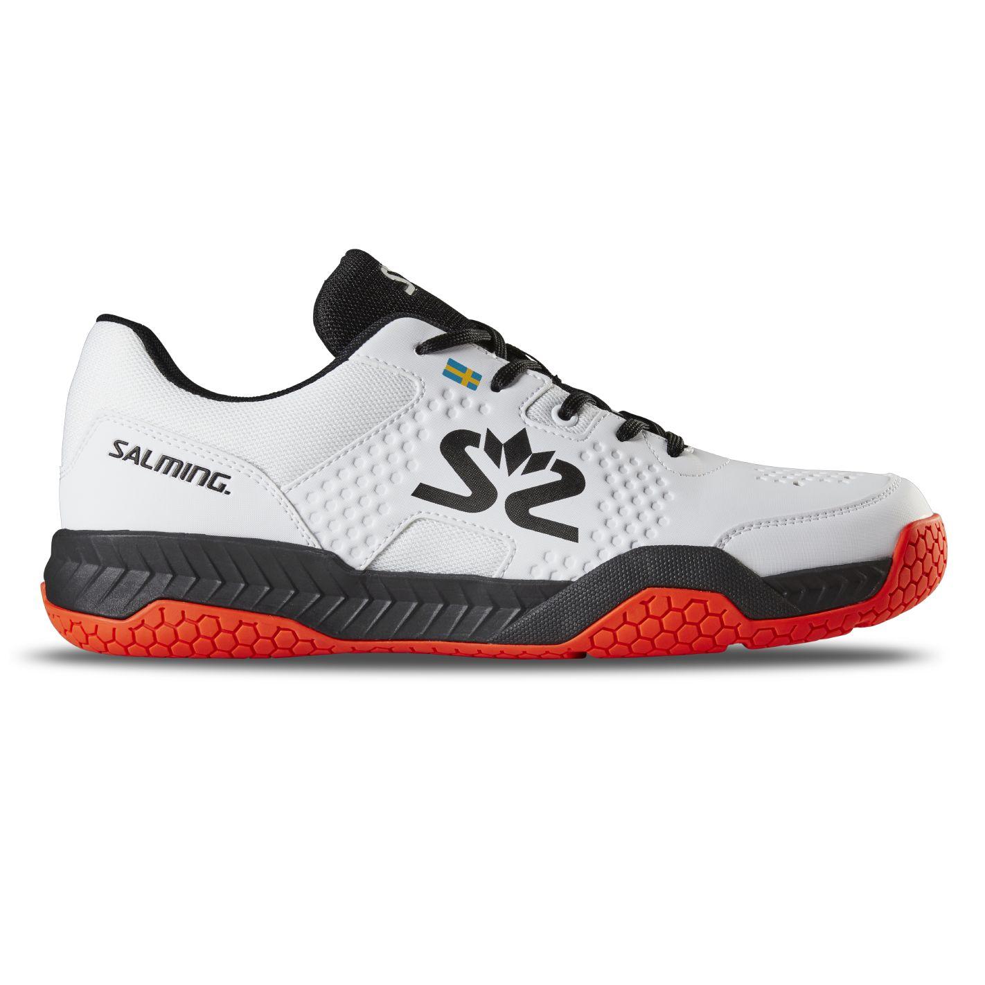 Salming Hawk Court Shoe Men White/Black 11,5 UK - 47 1/3 EUR - 30,5 cm