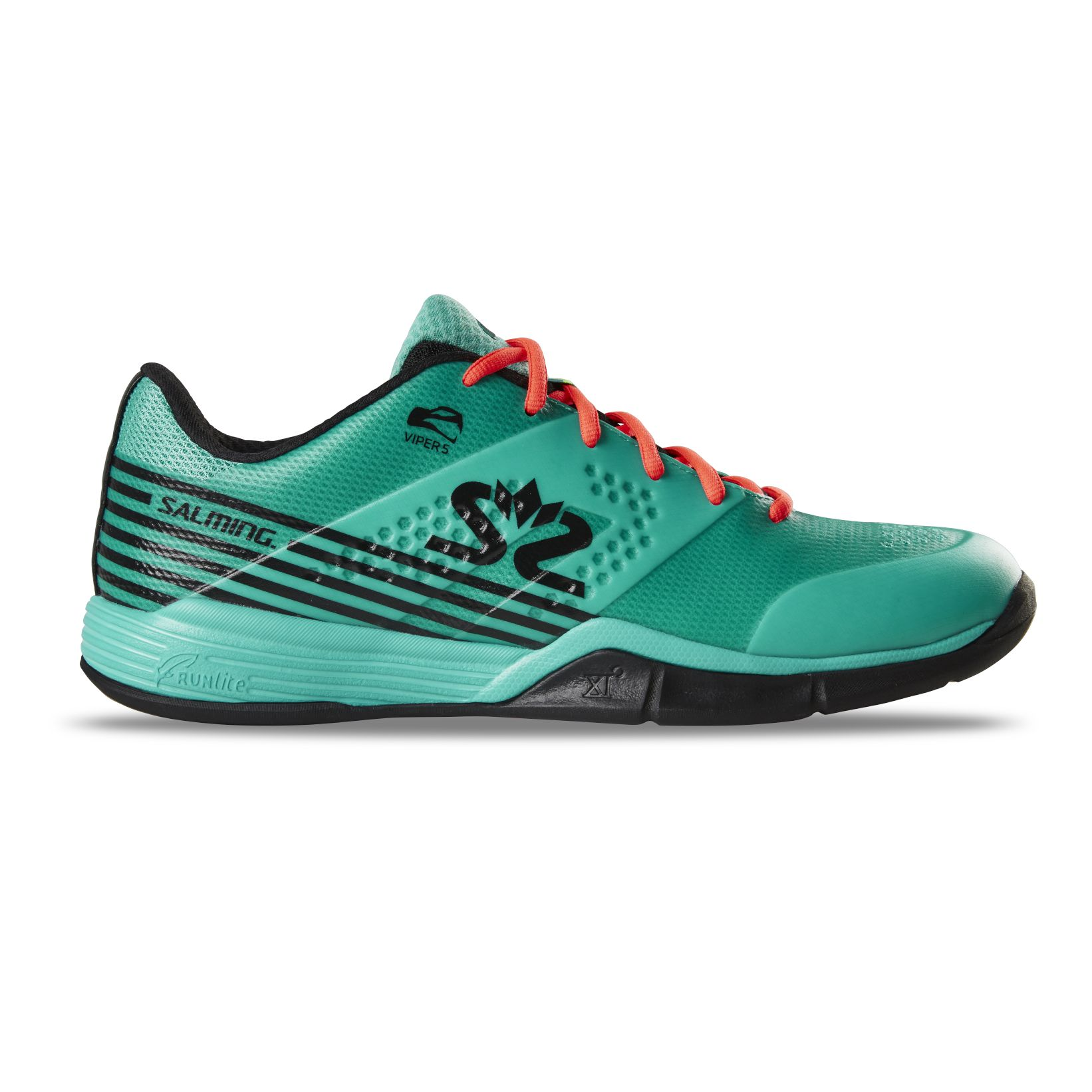 Salming Viper 5 Shoe Men Turquoise/Black 12 UK - 48 EUR - 31 cm