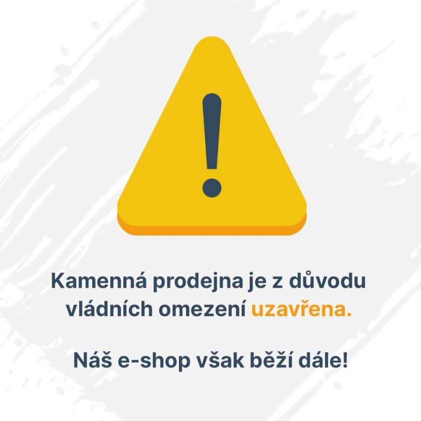 Z důvodu vládních nařízení je kamenná prodejna uzavřena !
