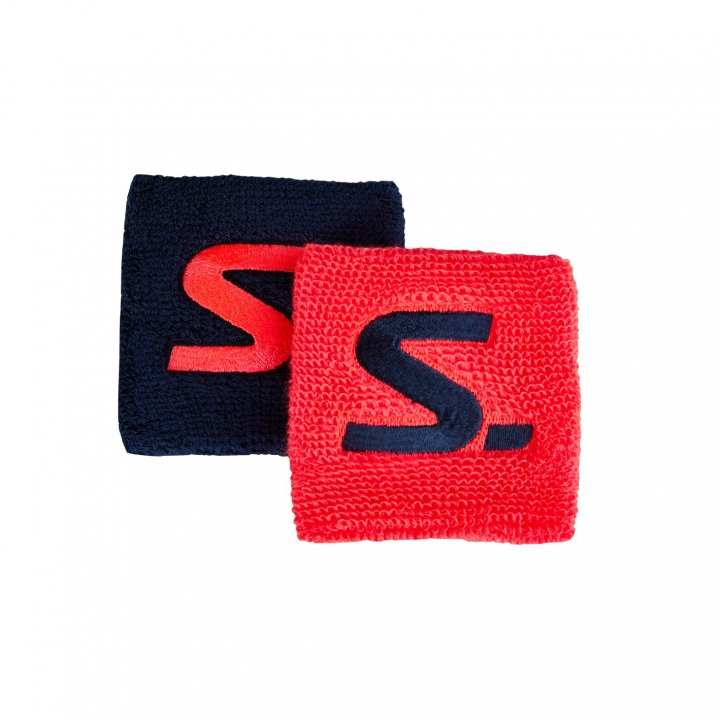 Salming Wristband Short 2-pack Coral/Navy