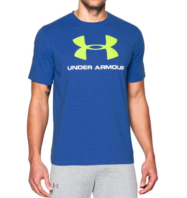 Under Armour bavlněné triko modré  XL